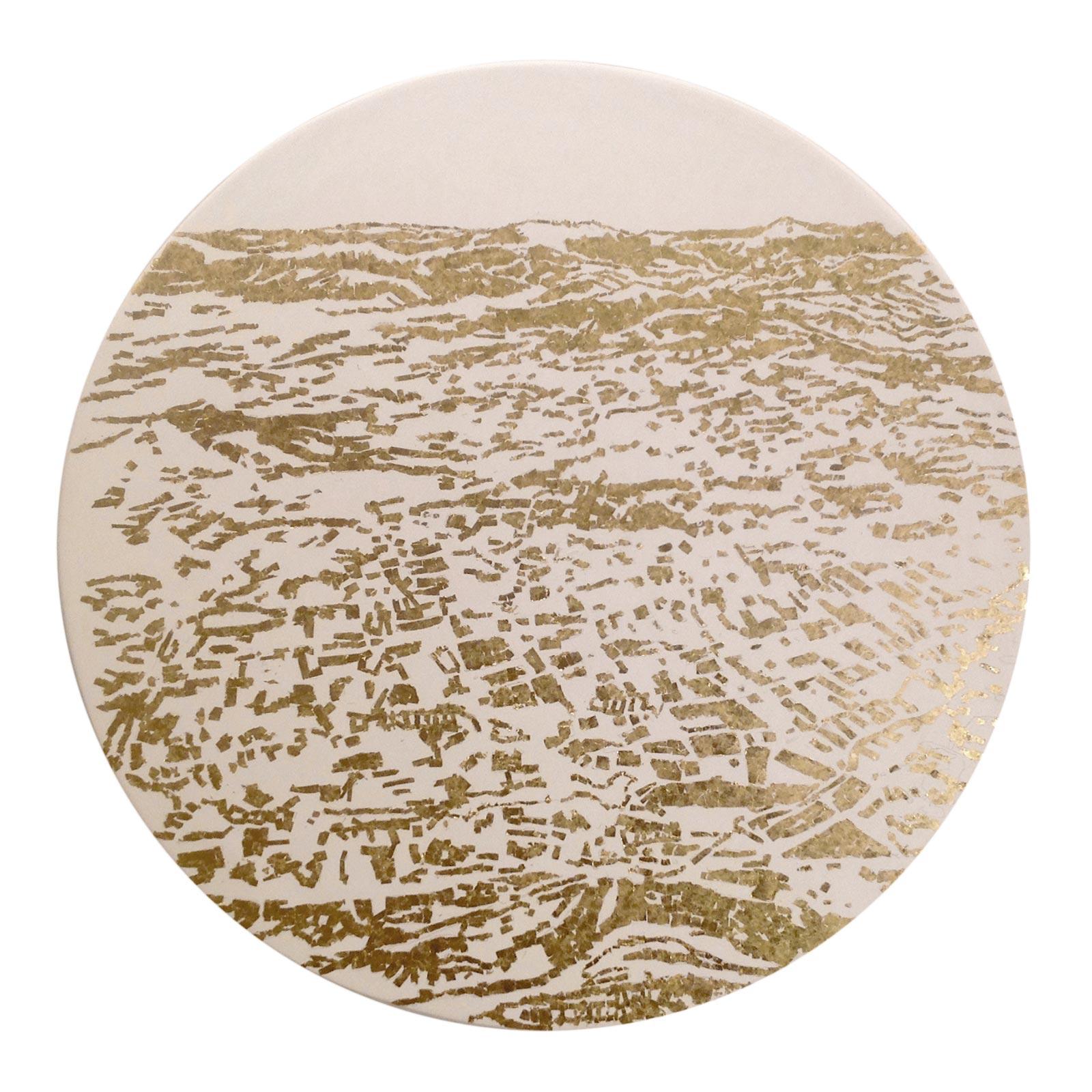 Caterina-Sbrana,-22-Dicembre-1915-gesso-naturale,-foglia-d'oro-zecchino-montata-su-tavola
