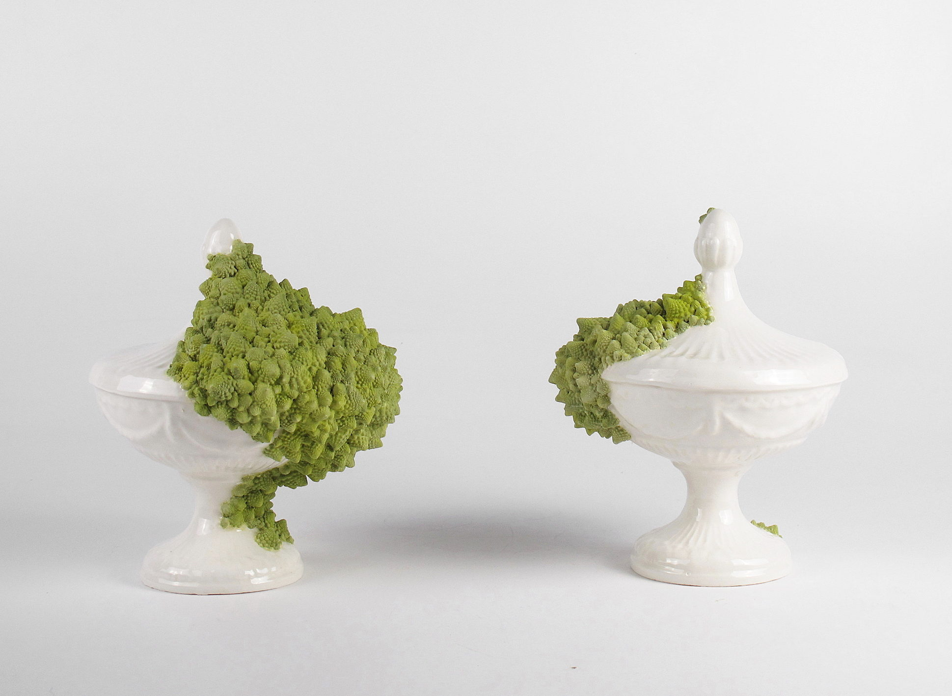 Caterina Sbrana Autosomiglianza, Self Similarity ceramica bianca smaltata e engobbio 2020 Studio17