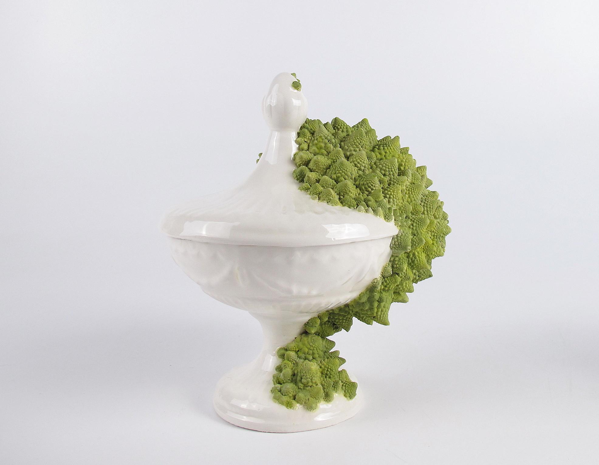 Caterina Sbrana Self similarity white glazed ceramic engobes 2019 3