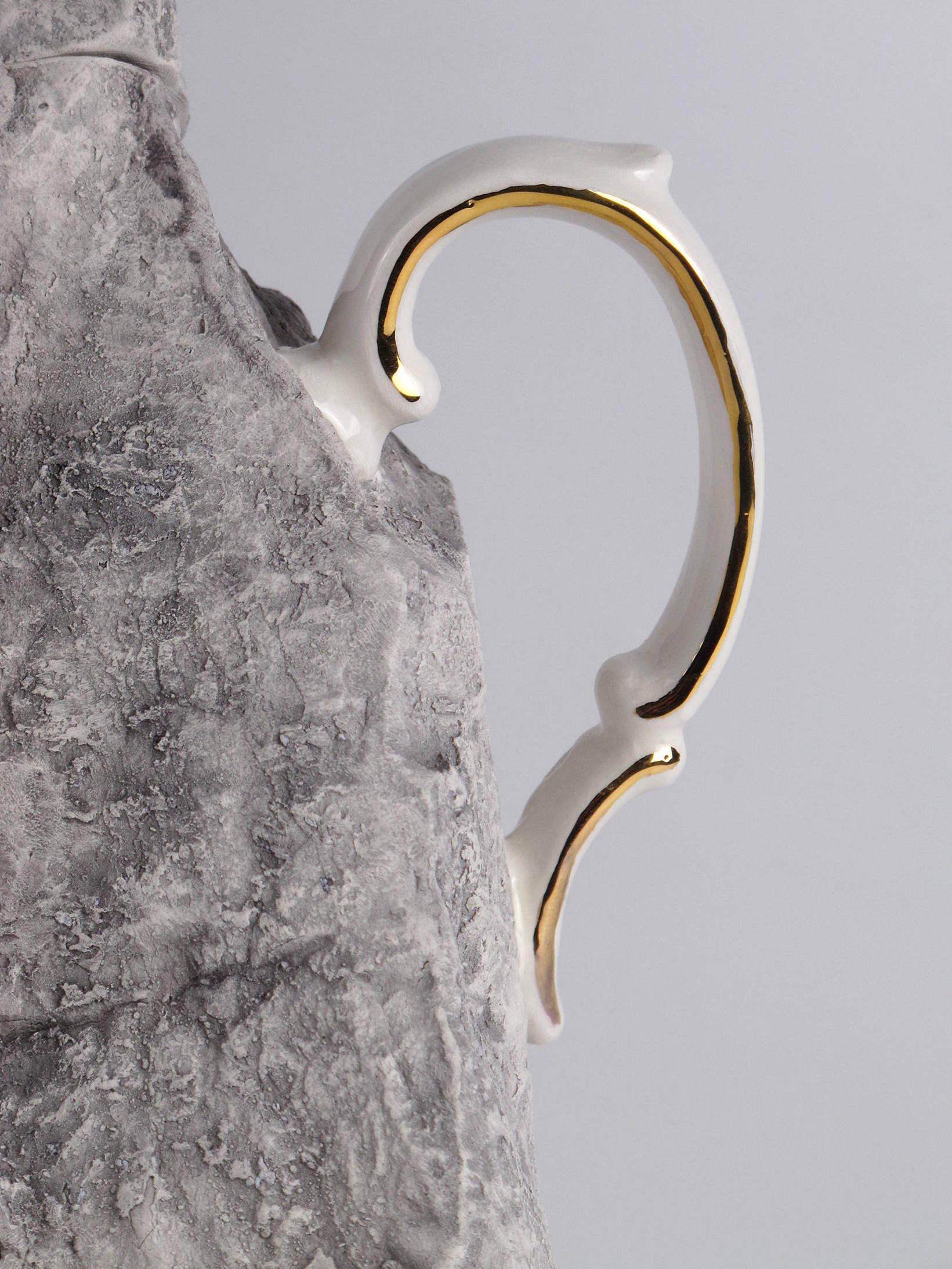 Lapidaria rock jug art project contemporary ceramic by Studio17 Caterina Sbrana Gabriele Mallegni