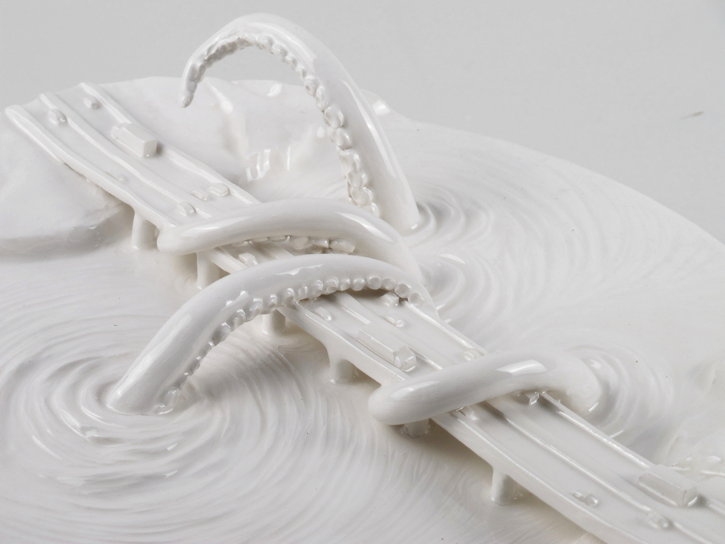 there's something in the water Gabriele Mallegni 2020 white glazed ceramic